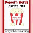 Sight Words Popcorn Words - Learning Centers