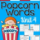 Popcorn Words Set 4 Great for Centers and Word Work