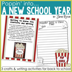 Poppin&#039; Into a New Year - 3 Back to School Writing Craftivities