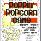 Poppin' Popcorn Game Template {Sight Words, Letters, Numbe