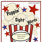 Poppin&#039; Sight Words - Popcorn Themed Dolch Word Activities 
