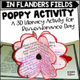 Poppy Craftivity for Remembrance Day or Veterans Day
