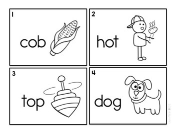 Popsicles and Hot Dogs-Short o Read and Write the Room