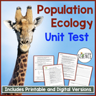 Population Ecology Unit Test