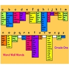 Portable Desktop Word Wall Grade 1