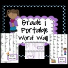 Portable Desktop Word Wall Grade 1 - Printable PDF