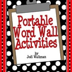 Portable Word Wall Fun!!!
