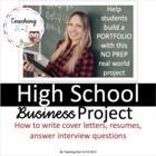 Portfolio Project: cover letters, resumes, interview quest