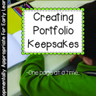 Portfolio/Memory Book Template: Measuring Growth One Sampl