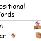 Positional Vocabulary Cards English