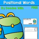 Positional Words Back Pack Hunt-FREE
