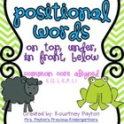 Positional Words (In Front, On Top, Below, Under) Common Core