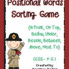 Positional Words Sorting Game (In Front, On Top, Below, Un