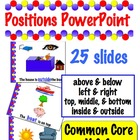 Positions PowerPoint - Common Core k.G.1  -  25 slides