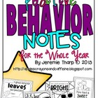 Positive Behavior Notes for the Year