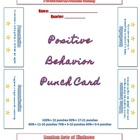 Positive Behavior Punch Card