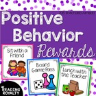 Positive Behavior Reward Cards (30 Rewards!)