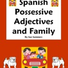 Possessive Adjectives & Family Worksheet
