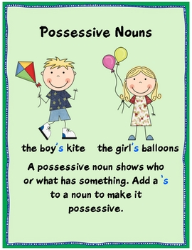 Possessive Nouns pack