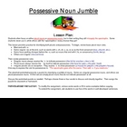 Possessive and plural nouns puzzle worksheet (classify nouns)