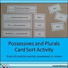 Possessives and Plurals Card Sort