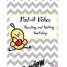Post-It Note Reading and Writing Workshop Resource Pack