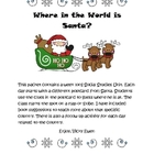 Postcards from Santa Social Studies Activities