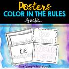 Posters about the Rules-Color in!