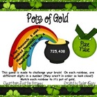 Pot of Gold Place Value (Place Value in 100,000s)