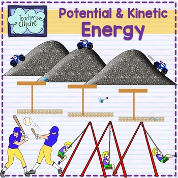 Potential and kinetic energy clipart