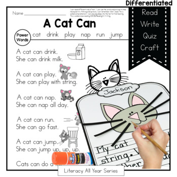 Power Passages {A Cat Can} Fluency, Writing, Art, Comprehension