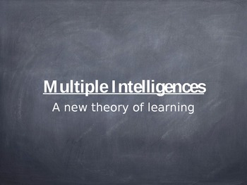Power Point: Multiple Intelligences