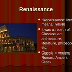Power Point: The Renaissance