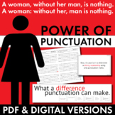 Power of Punctuation Lecture with Editing Handout, Make Gr