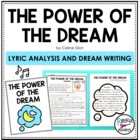 Power of a Dream Lyric Analysis and Writing Activity