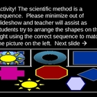 PowerPoint Fun Activity - Game - Sequence - Order - Shapes - Move