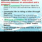PowerPoint Pronouns and Antecedents