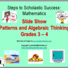 PowerPoint Slide Show - Patterns + Algebraic Thinking for