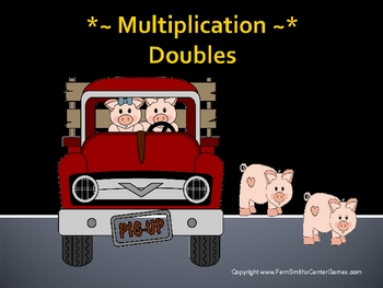 "PowerPoint for Math TWO TIMES TABLES ""Doubles"" in Multiplication"