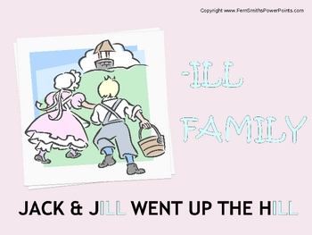 "PowerPoint for ""The -ill Family!"" Word Work / Phonics / Sp"