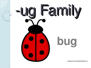 "PowerPoint for ""The -ug Family!"" Word Work / Phonics / Spe"