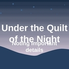 PowerPoint for Under the Quilt of the Night