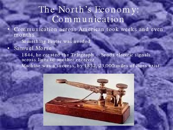 Powerpoint  North and South: The People and Econom