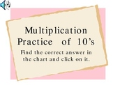 Powerpoint Presentation for Practicing Multiplication 10s Facts