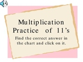 Powerpoint Presentation for Practicing Multiplication 11s Facts