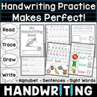 Practice Makes Perfect!  Handwriting Workbook: Read, Trace