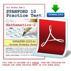 Practice Test (Stanford 10- Math 2) Plus FREE Item Worth $
