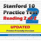 Practice Test (Stanford 10-Reading Compre and Processes 2n