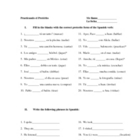 Practice using the preterite worksheet