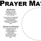 Prayer Dinner Mat 8.5 x 14